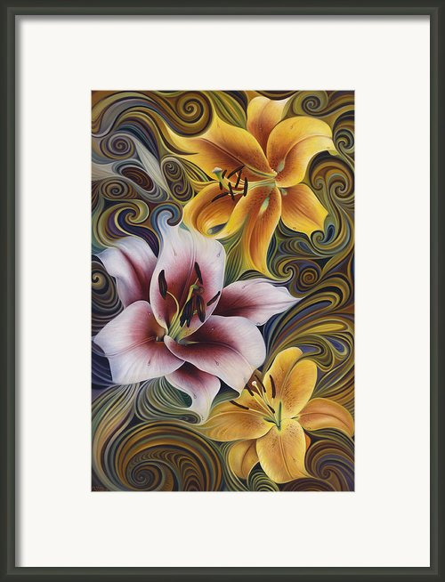 Dynamic Triad Framed Print By Ricardo Chavez-mendez