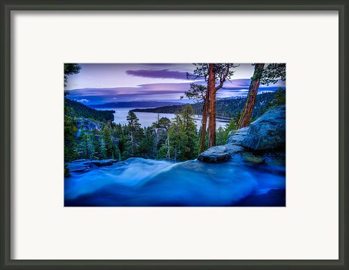 Eagle Falls At Dusk Over Emerald Bay  Framed Print By Scott Mcguire