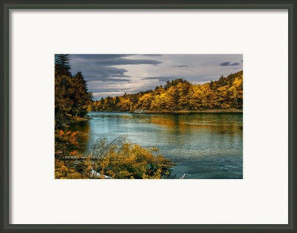 Early Autumn Along The Androscoggin River Framed Print By Bob Orsillo