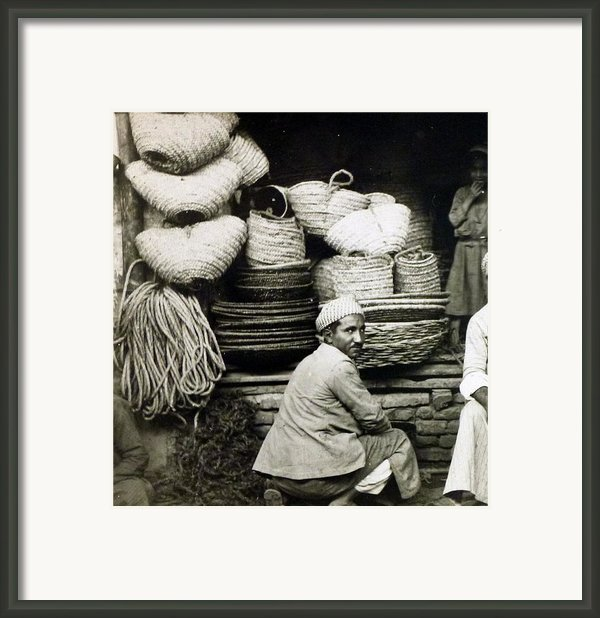 Early Baghdad Basket Dealer  Framed Print By Jackie Carpenter