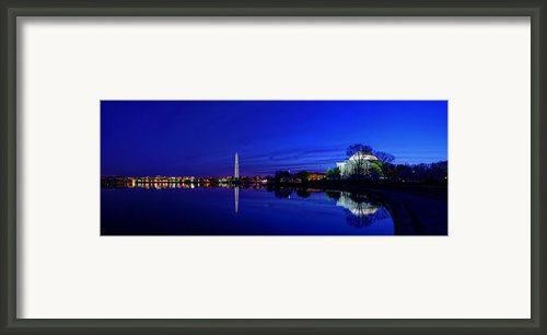 Early Morning Cherry Blossoms Framed Print By Metro Dc Photography