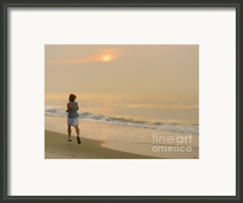 Early Morning Jog Framed Print By Jeff Breiman