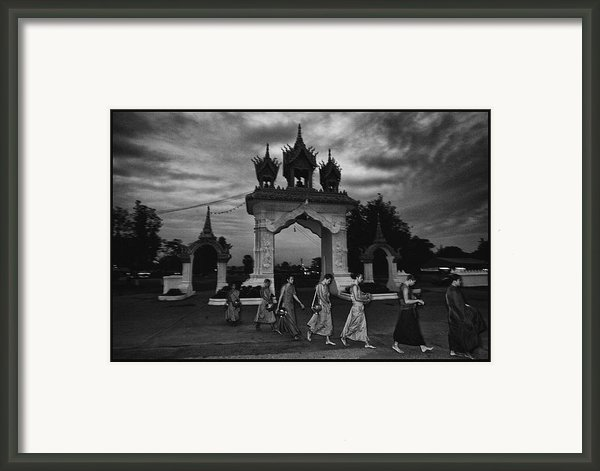 Early Morning Monks Framed Print By David Longstreath