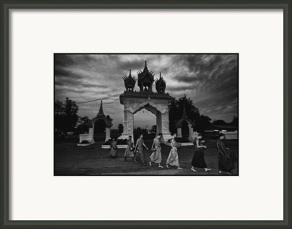 Early Morning Monks Framed Print By David Longstreath