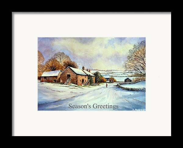 Early Morning Snow Christmas Cards Framed Print By Andrew Read