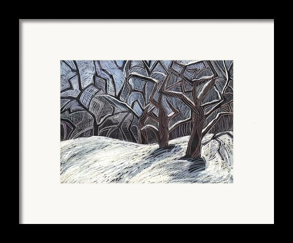 Early Snow Framed Print By Grace Keown