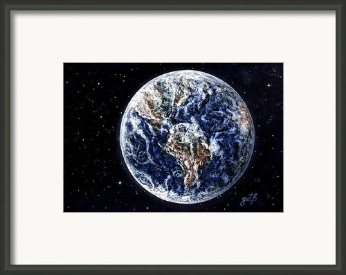 Earth Beauty Original Acrylic Painting Framed Print By Georgeta Blanaru