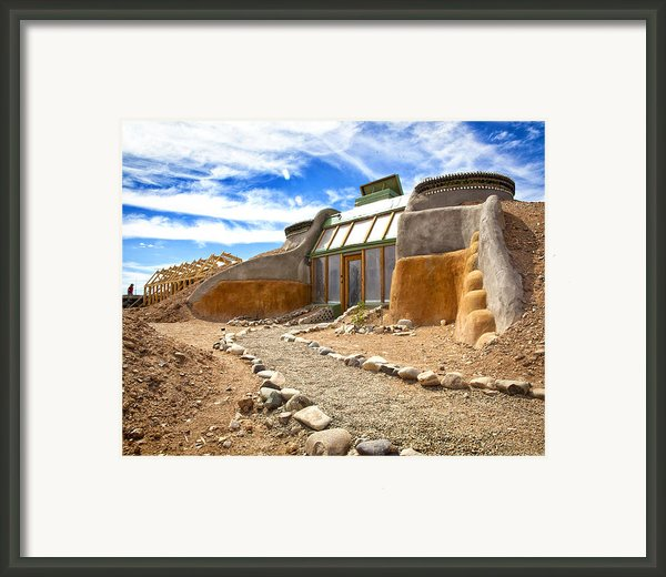 Earthship Taos  Framed Print By Shanna Gillette