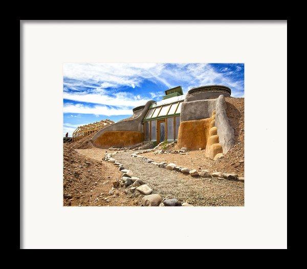Earthship Taos  Framed Print By Shanna Gillette