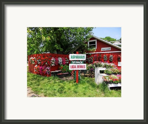 East End Farmstand Framed Print By Ed Weidman