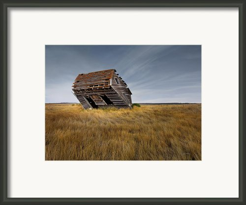 East Montana Texture Framed Print By Leland Howard
