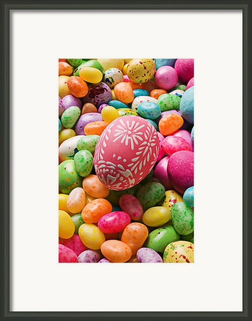 Easter Egg And Jellybeans  Framed Print By Garry Gay