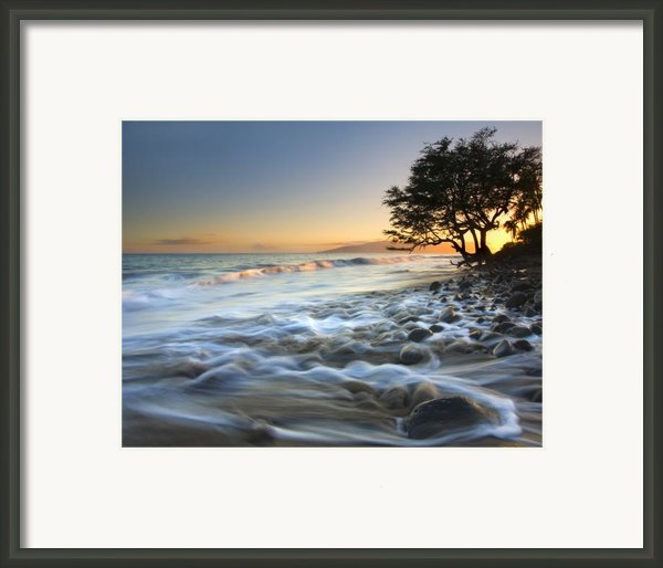 Ebb And Flow Framed Print By Mike  Dawson