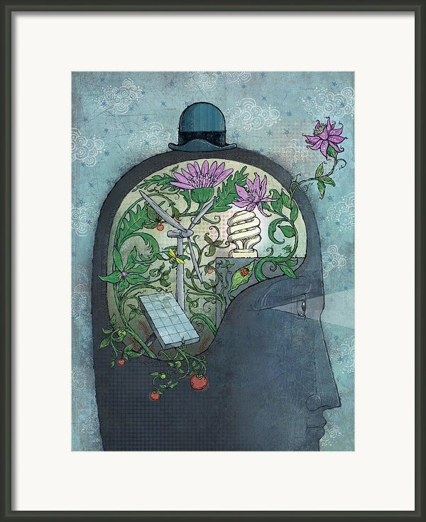 Ecohead Framed Print By Dennis Wunsch