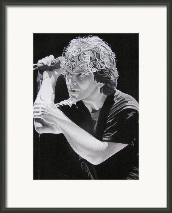Eddie Vedder Black And White Framed Print By Joshua Morton