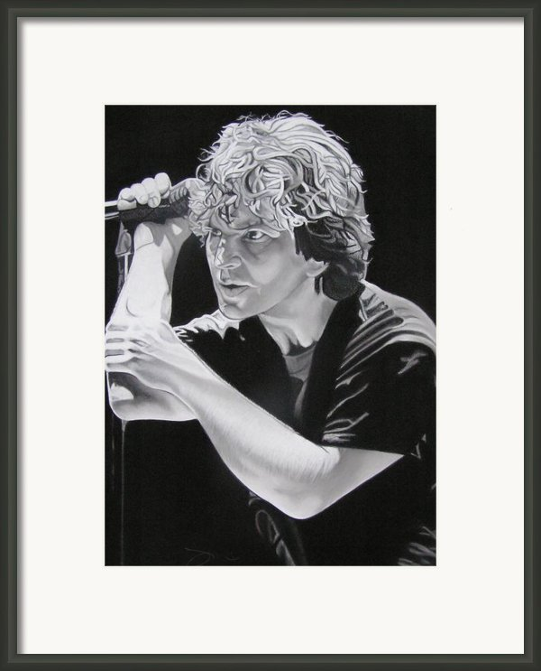 Eddie Vedder Black And White Framed Print By Joshua Morton