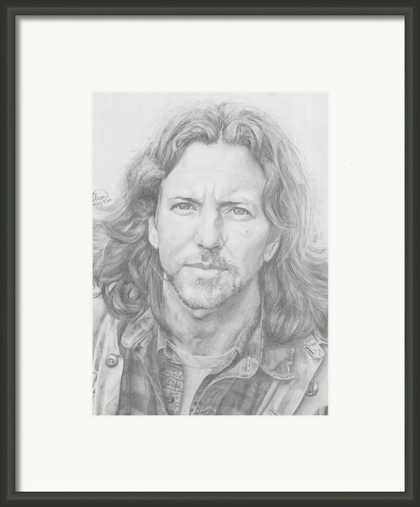 Eddie Vedder Framed Print By Olivia Schiermeyer