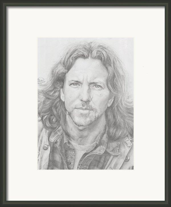 Eddie Vedder Framed Print By Olivia Schiermeyer
