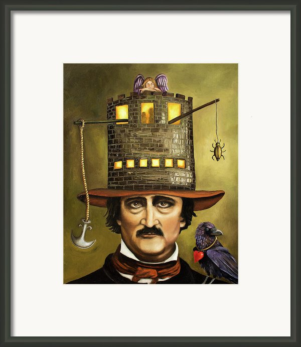 Edgar Allan Poe Framed Print By Leah Saulnier The Painting Maniac