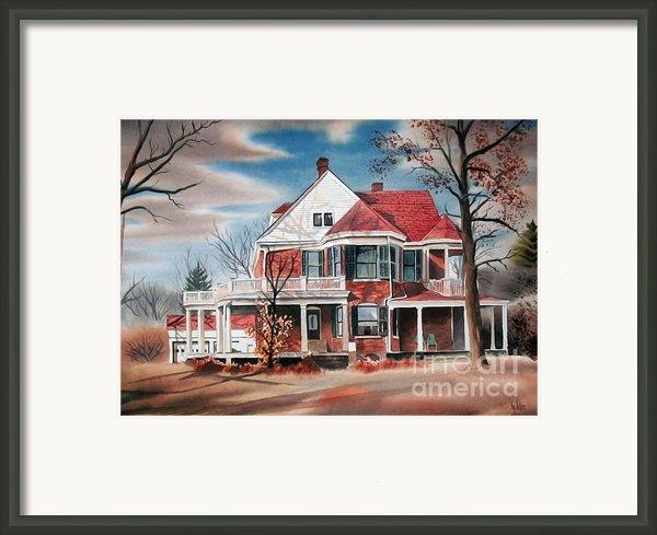 Edgar Home Framed Print By Kip Devore