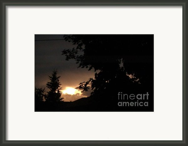 Eerie Sky After The Storm Framed Print By Gail Matthews