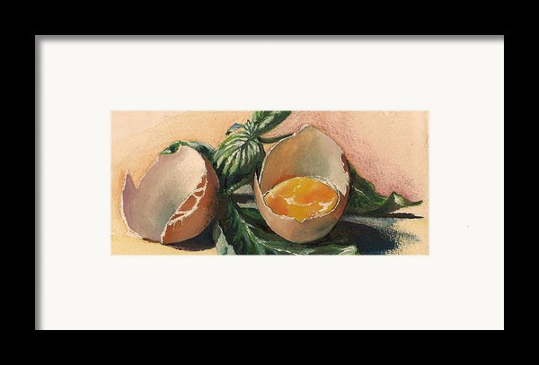 Egg And Basil Framed Print By Alessandra Andrisani