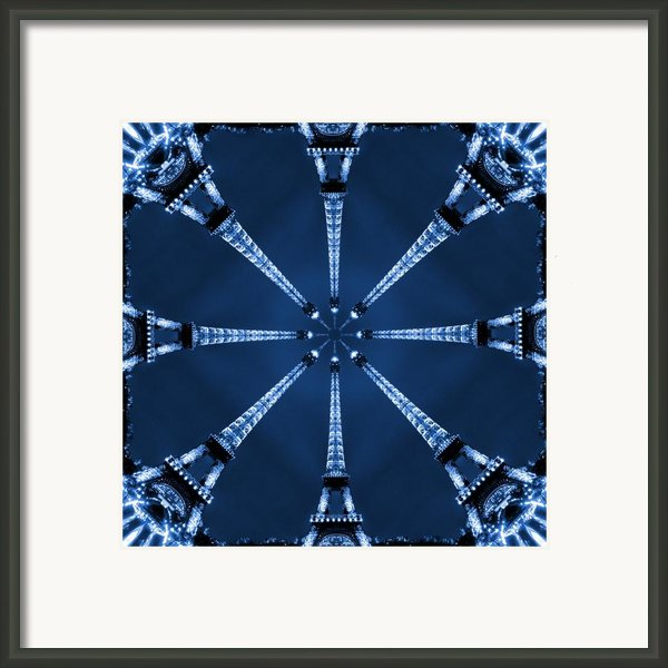 Eiffel Art 21 Framed Print By Mike Mcglothlen
