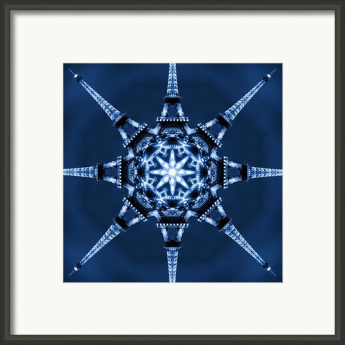 Eiffel Art 5 Framed Print By Mike Mcglothlen
