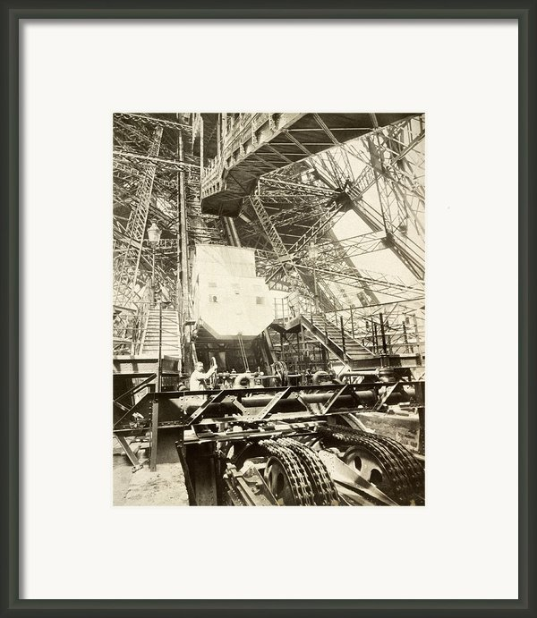 Eiffel Tower Lift Machinery, 1889 Framed Print By Science Photo Library