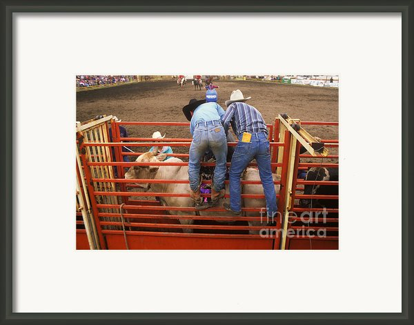 Eight Seconds To Payday Framed Print By Bob Christopher
