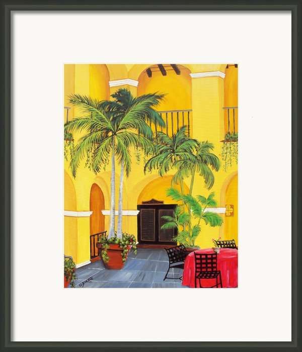El Convento In Old San Juan Framed Print By Gloria E Barreto-rodriguez