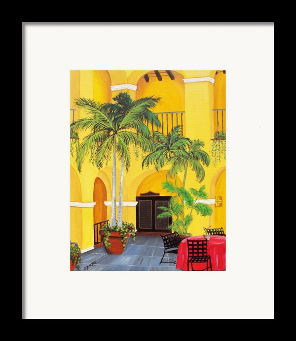 El Convento In Old San Juan Framed Print By Gloria E Barreto-rodriguez