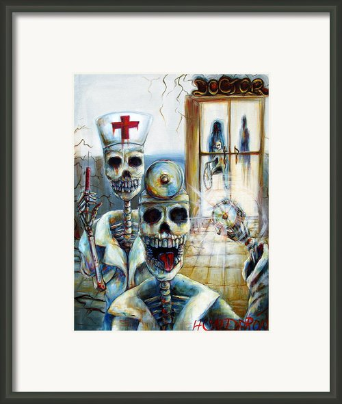 El Doctor Framed Print By Heather Calderon