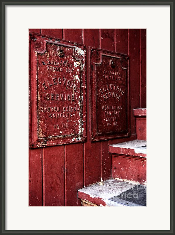 Electric Service In Boston Framed Print By John Rizzuto