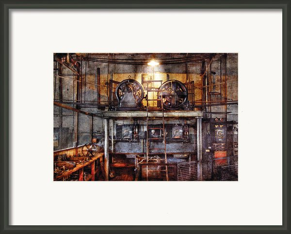Electrician - Turbine Station Framed Print By Mike Savad
