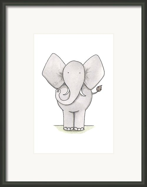 Elephant Nursery Art Framed Print By Christy Beckwith