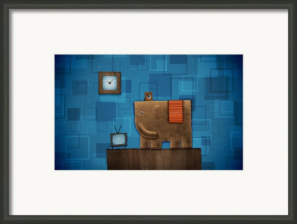 Elephant On The Wall Framed Print By Sanely Great