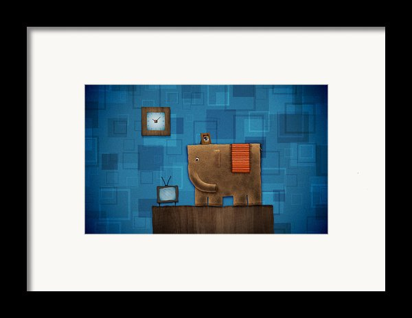 Elephant On The Wall Framed Print By Gianfranco Weiss