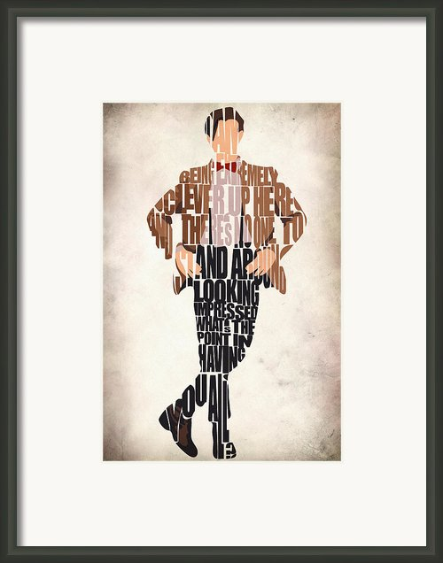 Eleventh Doctor - Doctor Who Framed Print By Ayse T Werner