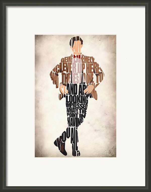 Eleventh Doctor - Doctor Who Framed Print By Ayse Deniz