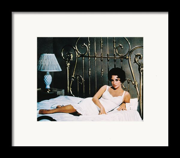 Elizabeth Taylor In Cat On A Hot Tin Roof  Framed Print By Silver Screen