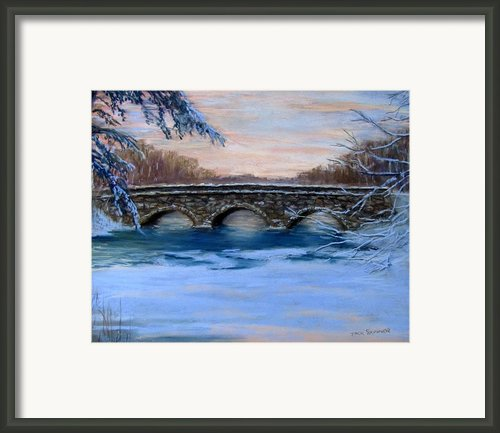 Elm Street Bridge On A Winter