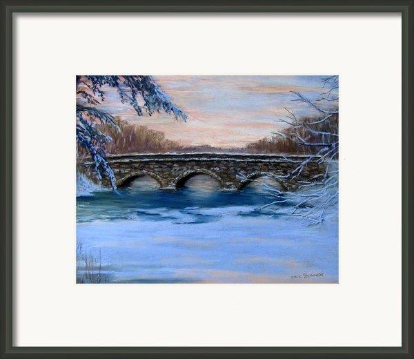 Elm Street Bridge On A Winter