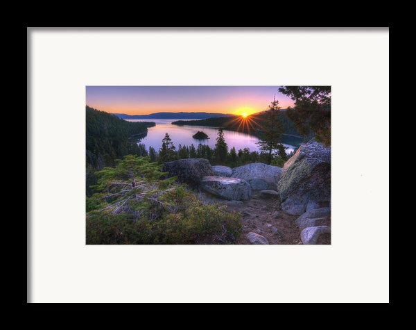 Emerald Bay Framed Print By Sean Foster