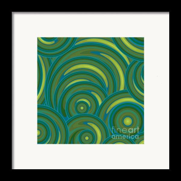 Emerald Green Abstract Framed Print By Frank Tschakert