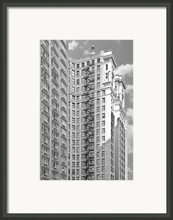 Emergency Exit Chicago Il Framed Print By Christine Till