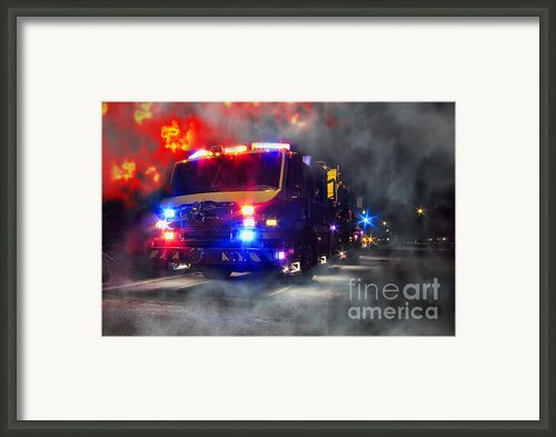 Emergency Framed Print By Olivier Le Queinec
