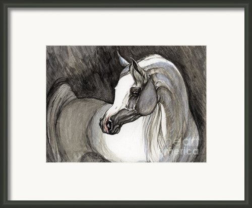 Emerging From The Darkness Framed Print By Angel  Tarantella