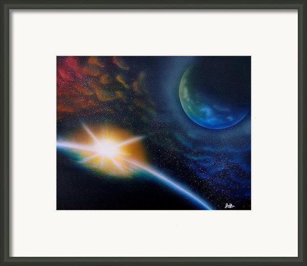 Emerging Light Framed Print By Jordan Fraser