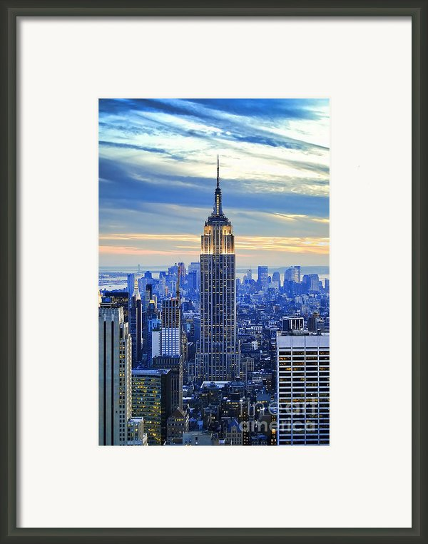 Empire State Building New York City Usa Framed Print By Sabine Jacobs